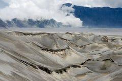 Arid Landscape Defined by Volcanic Eruption at Mt. Bromo, Tengger Semeru National Park, Indonesia. Arid Landscape Defined by Volcanic Eruption at Mt. Bromo Stock Photography
