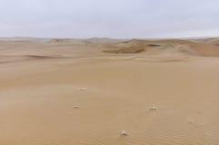 Arid landscape in the Huacachina desert, Peru Stock Photography