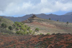 An arid landscape. From La Gomera , the Canary Islands Stock Image