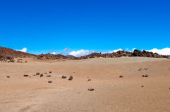 Arid landscape, Lanzarote island, Spain Stock Photos