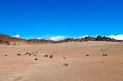 Arid landscape, Lanzarote island, Spain Stock Photos
