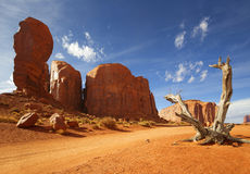 Arid landscape of monument valley, arizona stock image