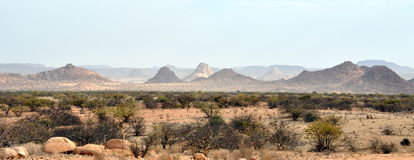 Arid landscape of Namibia Royalty Free Stock Photography