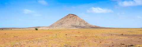 Arid landscape near buracona in Sal Island Cape Verde Cabo Verde Royalty Free Stock Images