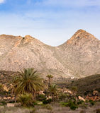Arid mountain landscape scenery Southern Spain Royalty Free Stock Image