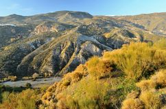 Arid mountains of Andalusia Spain royalty free stock images