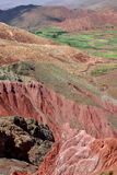 Arid multi-colored mountains (Northern Argentina) Royalty Free Stock Photo
