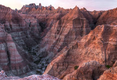 Arid Peaks of the Badlands in South Dakota Stock Image