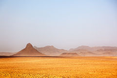 Arid peaks in a desertic landscape. Ouarzazate, Maroc Stock Photography