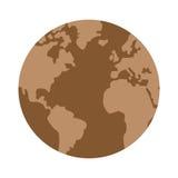 Arid planet earth icon. Flat design arid planet earth icon  illustration Royalty Free Stock Photography
