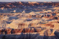 Arid rock formation in North America Stock Photos