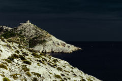 Arid rocky Calanques de Marseille Royalty Free Stock Photography
