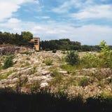 Arid scenery. In Provence region of France Royalty Free Stock Photos