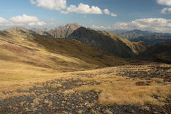 Arid slopes in Pyrenees Royalty Free Stock Photography