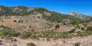Arid Turkish landscape between Marmaris and Fethiye Stock Images