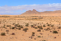 Arid valley in Morocco. Arid desert in the Middle Atlas Mountains in Morocco, Africa Stock Image