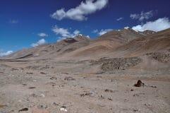 Arid valley in Tajikistan. Scenic arid valley in Pamir mountains in Tajikistan Stock Image