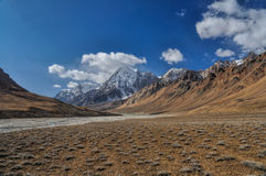 Arid valley in Tajikistan Royalty Free Stock Photo