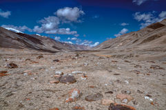 Arid valley in Tajikistan Royalty Free Stock Photography