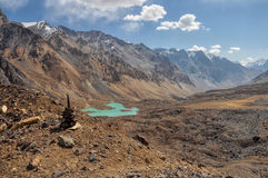 Arid valley in Tajikistan Royalty Free Stock Image