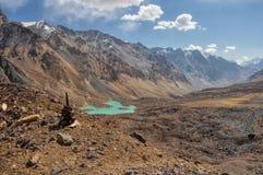 Arid valley in Tajikistan Royalty Free Stock Image