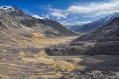 Arid valley in Tajikistan Stock Photo