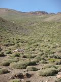 Landscape of the uncontaminated mountains of the Atlas in Maroc Stock Photos