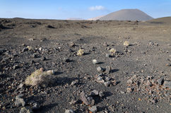 Arid volcano landscape Royalty Free Stock Photos
