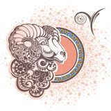 aridly σύμβολα δώδεκα σημαδιών σχεδίου έργων τέχνης διάφορο zodiac Στοκ Φωτογραφίες