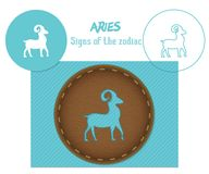 aridly zodiac σημαδιών Κοπή λέιζερ E ελεύθερη απεικόνιση δικαιώματος