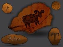 aridly Zodiacal αστερισμός υπό μορφή ζωγραφικής σπηλιών ελεύθερη απεικόνιση δικαιώματος