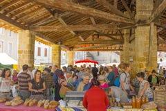 Ariege, Francia 2015 Compradores en el marke interior francés foto de archivo libre de regalías