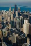 ariel芝加哥视图冬天 免版税库存图片