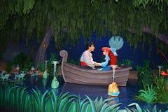 Ariel και Eric - μαγικός κόσμος Walt Disney βασίλειων Στοκ Εικόνα