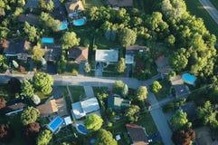 Ariel-Ansicht der Häuser Stockfoto