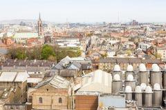 Ariel-Ansicht von Dublin Stockbild