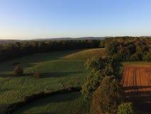 Ariel-Ansicht von Sussex-Ackerland Lizenzfreie Stockfotos