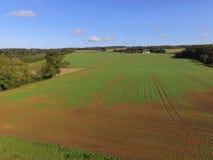 Ariel-Ansicht von Sussex-Ackerland Stockbilder