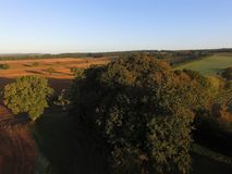 Ariel-Ansicht von Sussex-Ackerland Stockfoto
