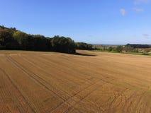 Ariel-Ansicht von Sussex-Ackerland Stockfotos