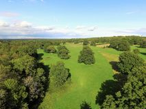 Ariel-Ansicht von Sussex-Ackerland Lizenzfreies Stockfoto
