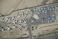 Ariel av flygplan Royaltyfri Fotografi
