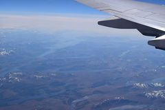 Aeriel Coastal View of Scotland from an Airplane Royalty Free Stock Images