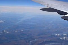 Ariel Coastal View von Irland von einem Flugzeug Lizenzfreie Stockbilder