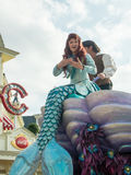 Ariel den lilla sjöjungfrun på Disneyland Paris Arkivfoto