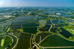 Ariel-Fotoackerland unter dem Wasser in Thailand Stockfotos