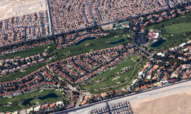 Ariel Golf Course Development Royalty Free Stock Images