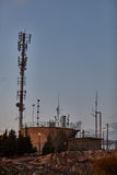 Ariel - 03 January 2017: Cellular antenna in a park, Ariel, Israel royalty free stock images