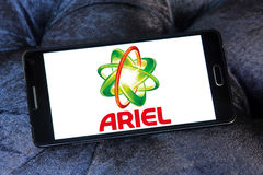 Ariel laundry detergent logo. Logo of ariel laundry detergent or washing powder on samsung mobile Royalty Free Stock Photos