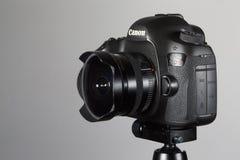 Ariel - 07, mars 2017: eos-kameran för 1dx Canon med sigma 15mm len Royaltyfri Foto